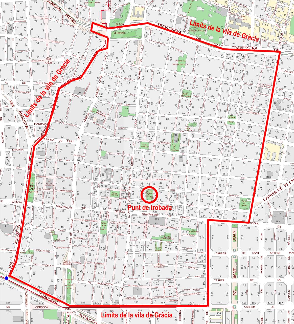 Mapa de Gràcia