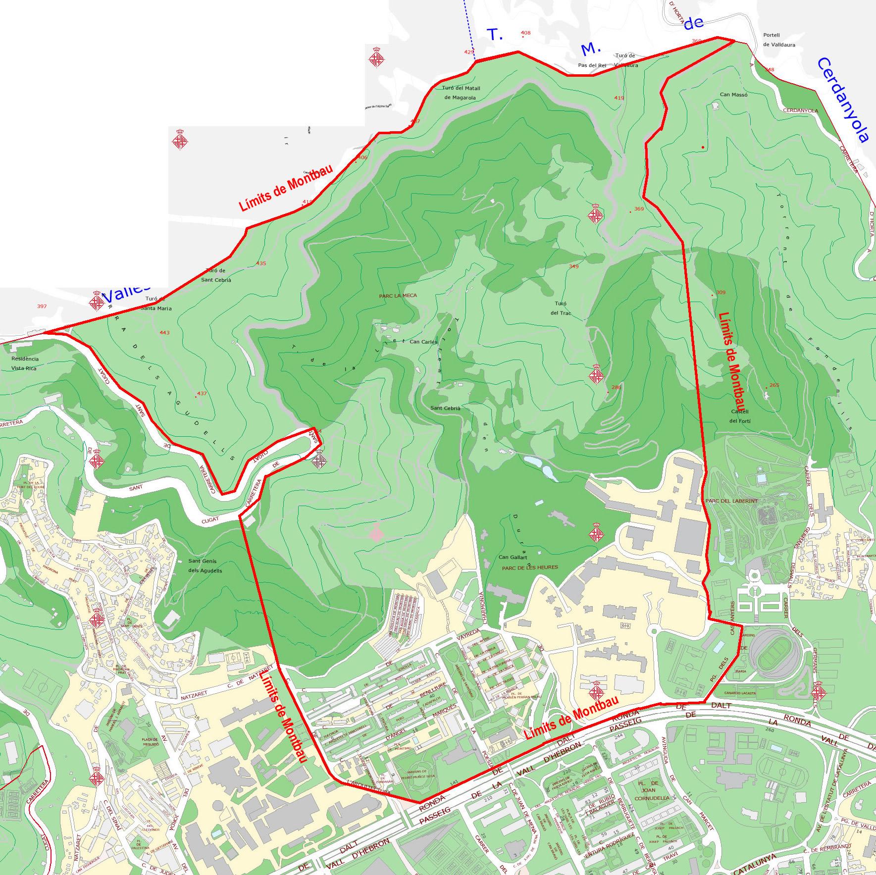 Mapa de Montbau