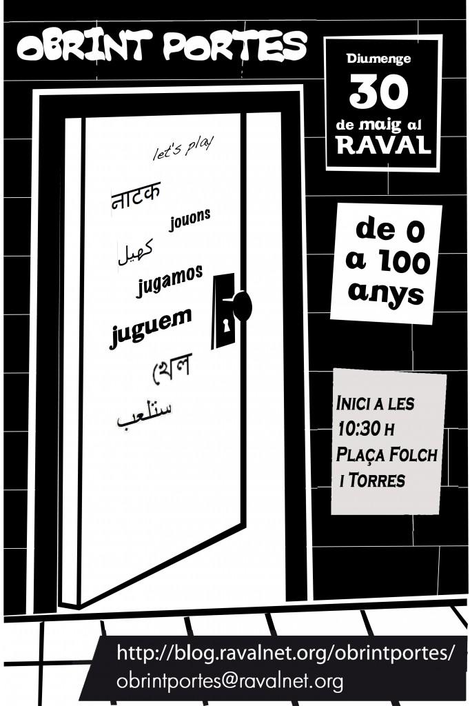 Cartell Obrint Portes al Raval